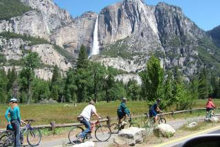 Cycling in Yosemite Valley