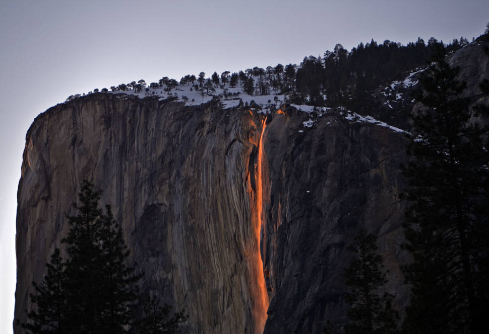Horsetail Fall or Firefall in Yosemite - Best Season