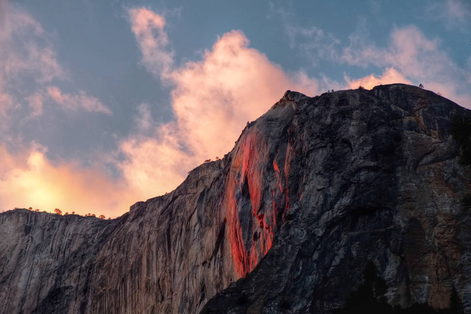 "Caption from 2015: ""Spent the weekend in Yosemite to witness the firewall that happens once a year around the second week of February. Although there was no waterfall, it was still an amazing experience. Already planning for next year."""