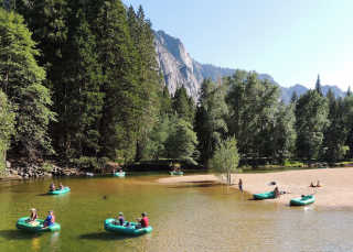 Rafting Along the Merced River