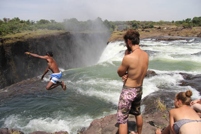 Best time to see Devil's Pool in Zambia
