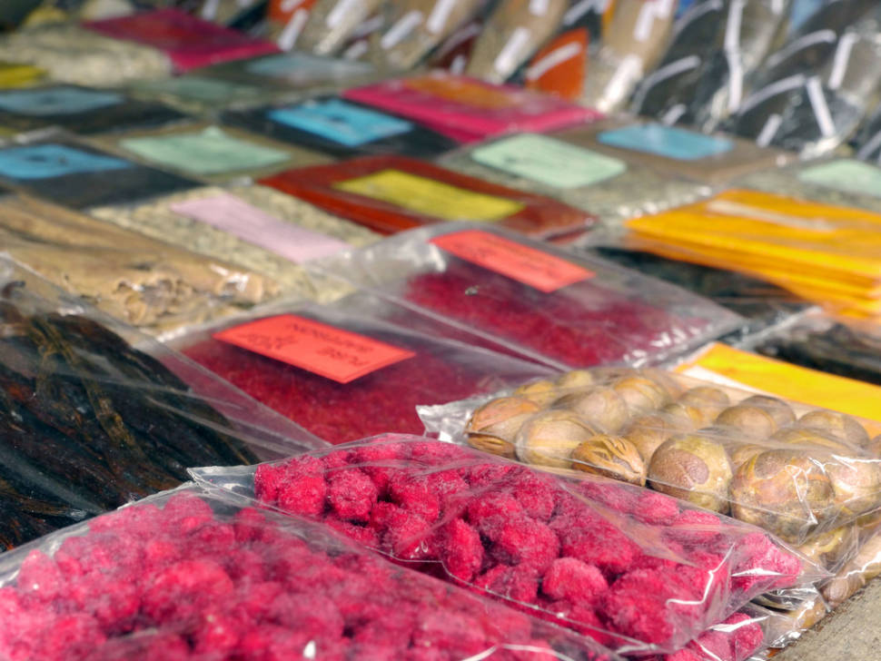 Baobab fruit candy and spices at Darajani Market, Stonetown